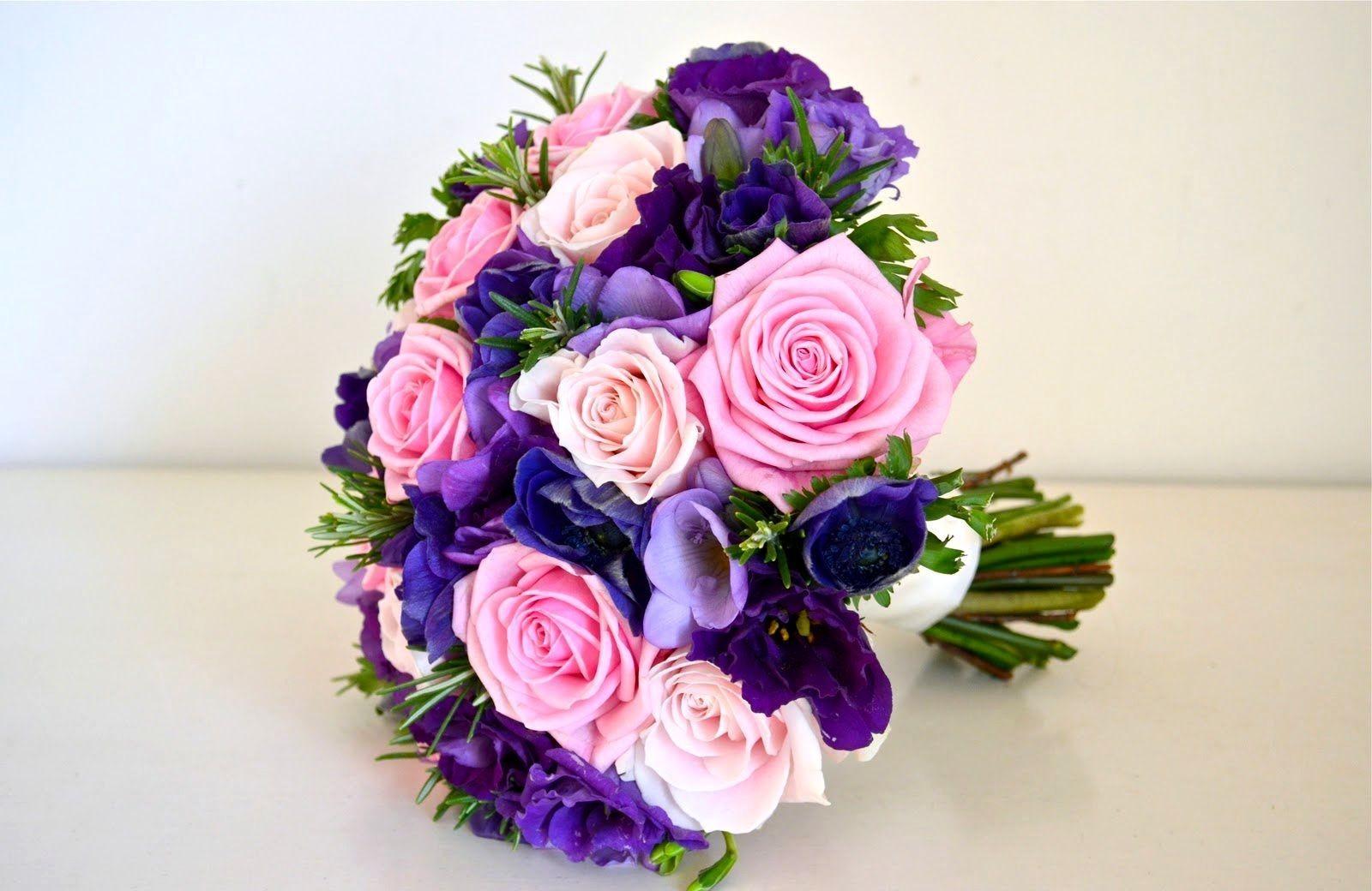 Фото букета свадебных цветов