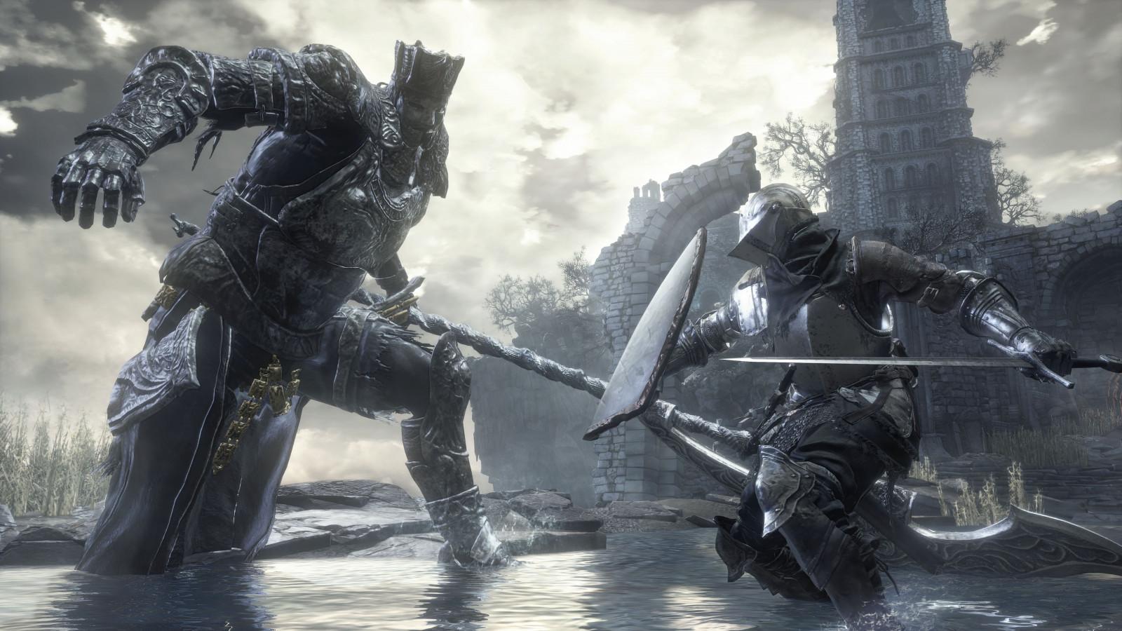 Landscape Dark Soldier Magic Souls III Gothic Midevil Screenshot 3840x2160 Px Knights Pc