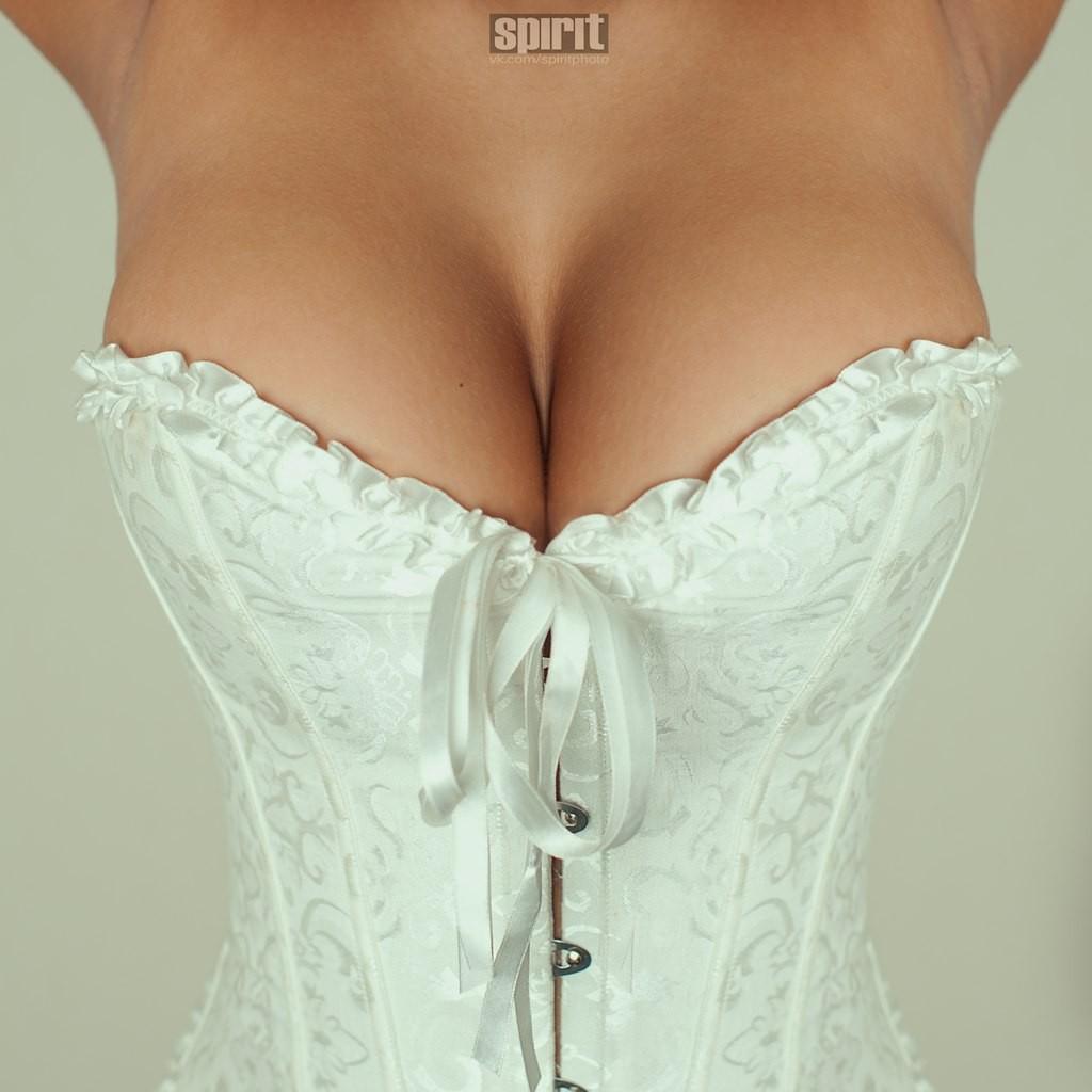 Wallpaper  Women, Big Boobs, Closeup, Armpits, Cleavage, Corset, Wedding Dress, Satin -6337