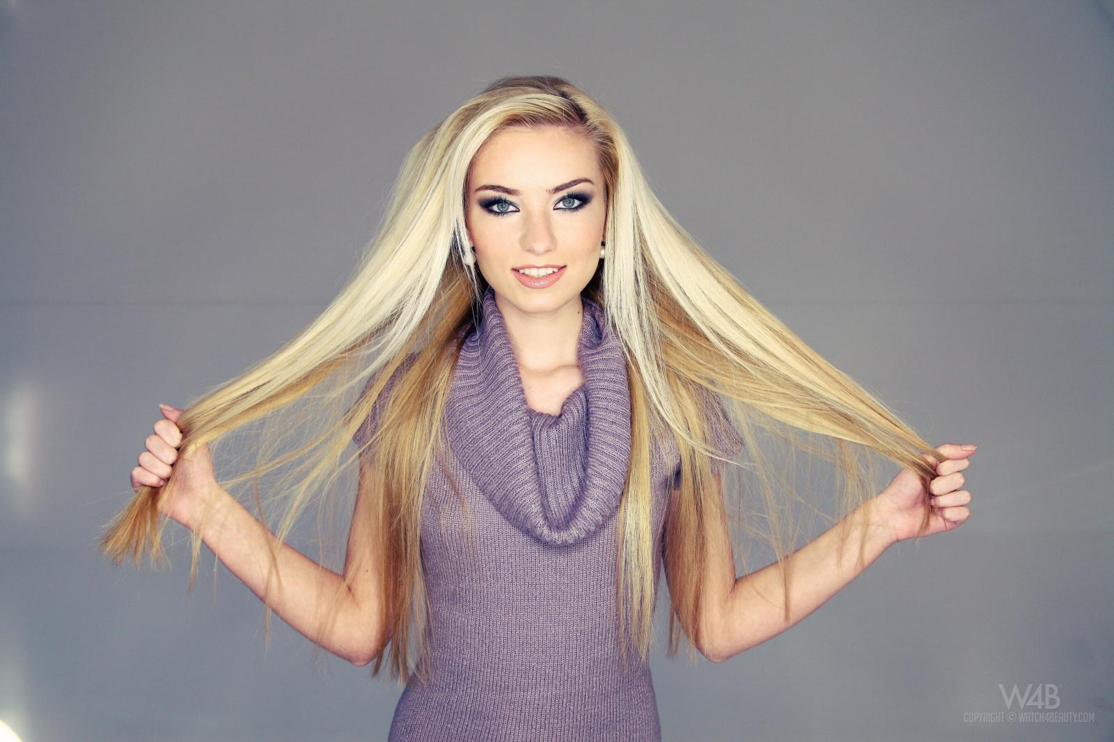 Sfondi : viso, donne, modello, bionda, capelli lunghi