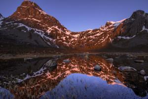 Fond d 39 cran paysage montagnes cascade photoshop for Visiere ecran ordinateur