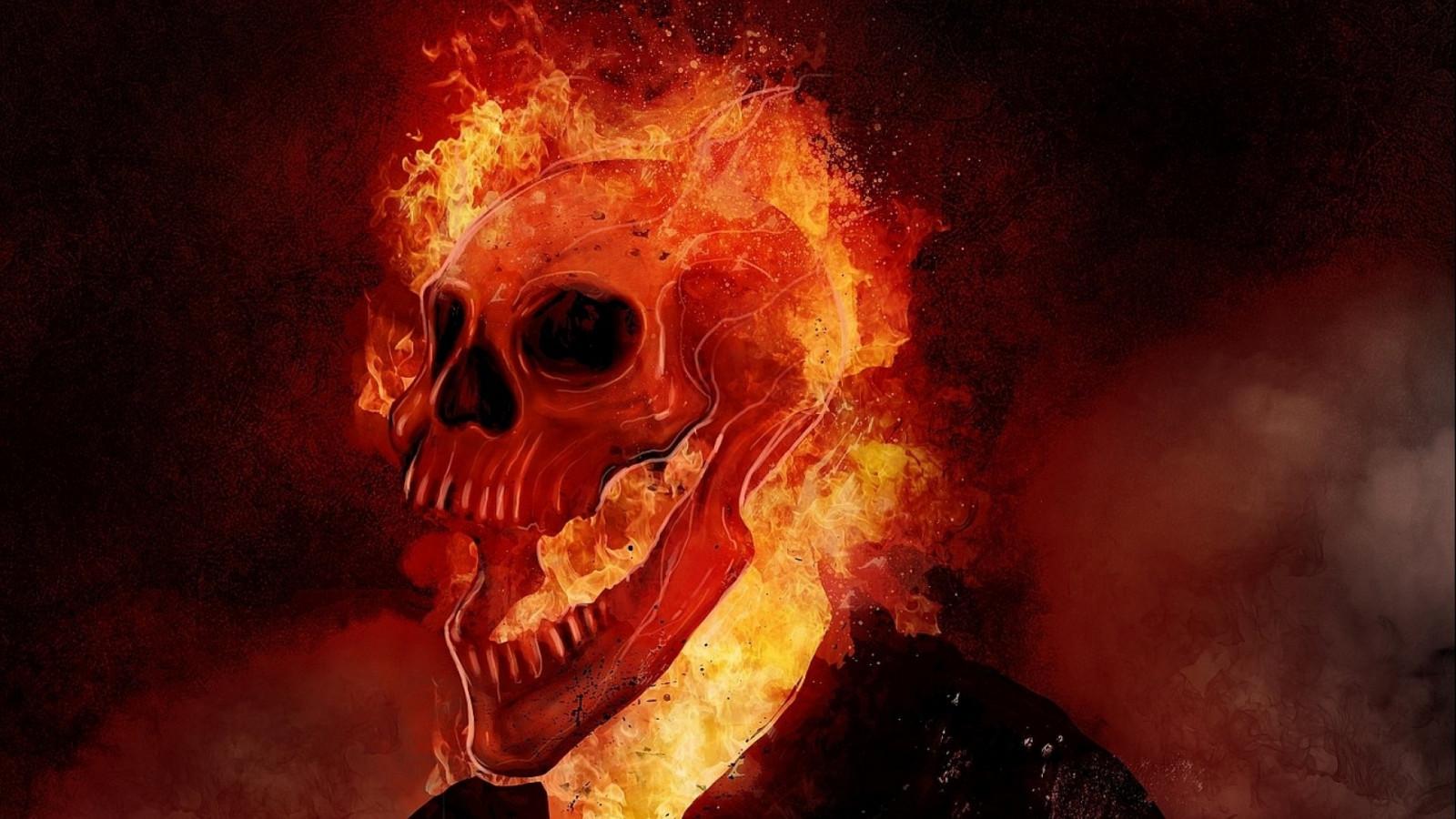 Картинки с черепом в огне