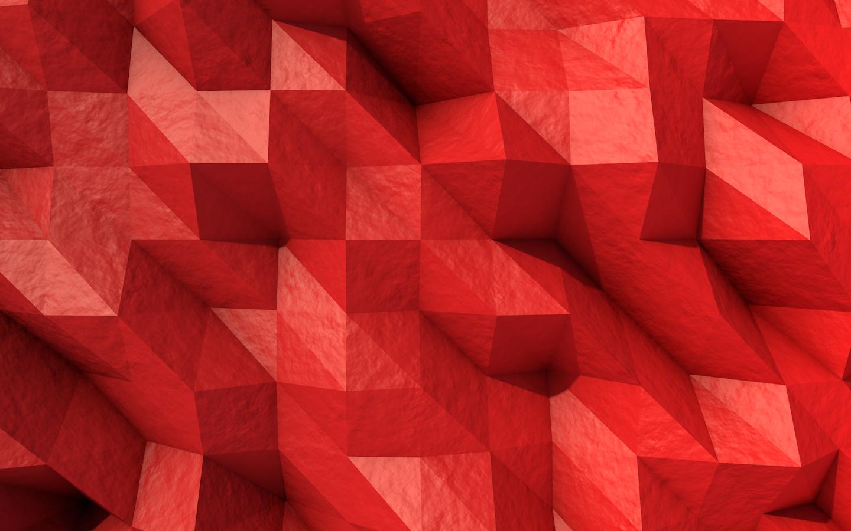 Sfondi Rosso Low Poly Simmetria Triangolo Modello Struttura