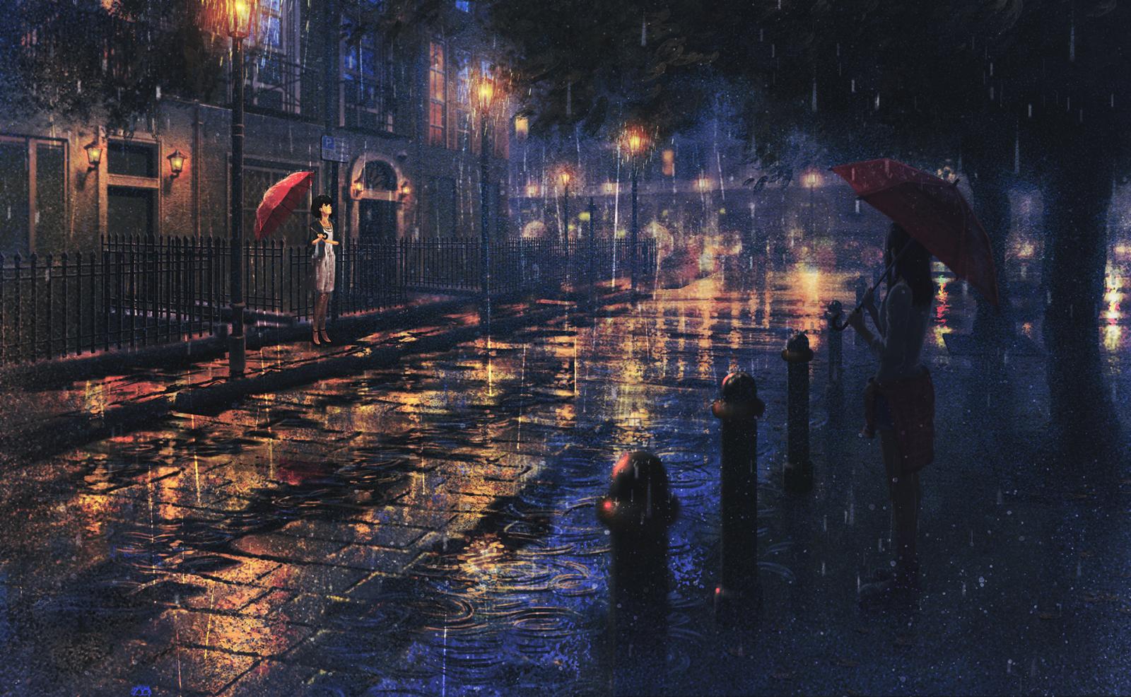 Wallpaper : sunlight, cityscape, night, anime girls ...