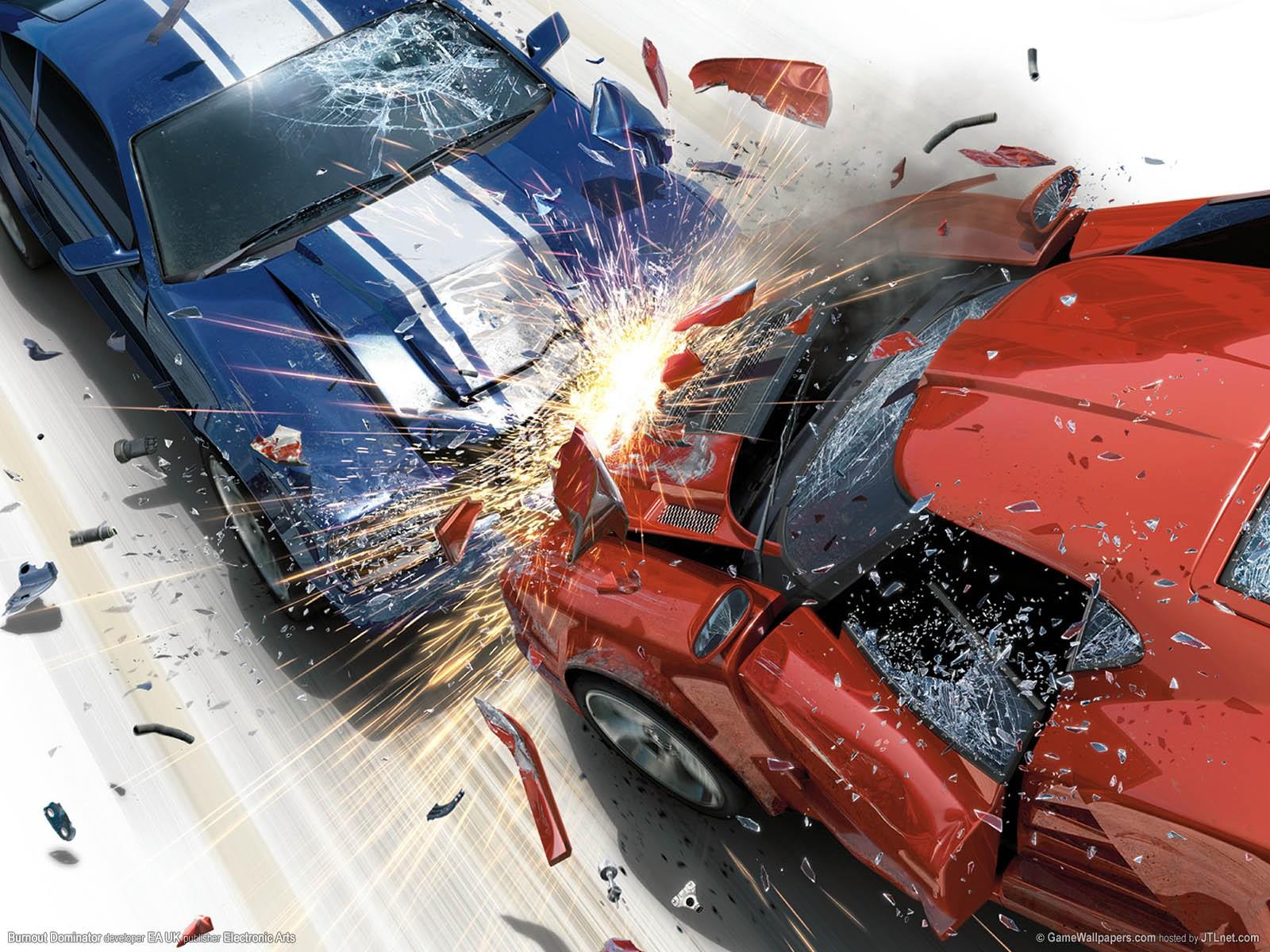 Delightful Wallpaper : Video Games, Lamborghini, Muscle Cars, Sports Car, Crash,  Destruction, Burnout Dominator, Burnout Video Game, Kaza, Supercar,  Screenshot, ...