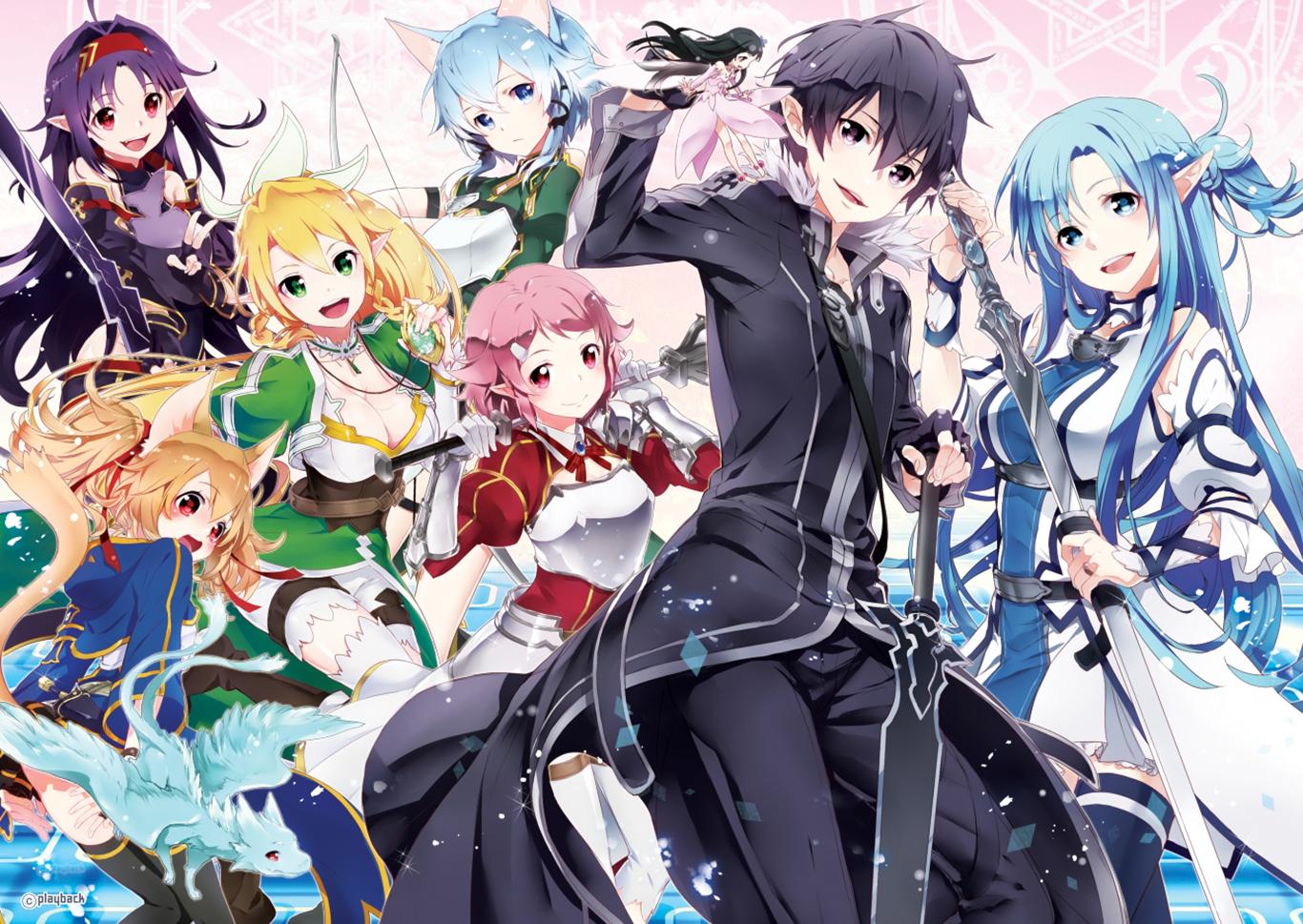 Картинки персонажей мастера меча онлайн