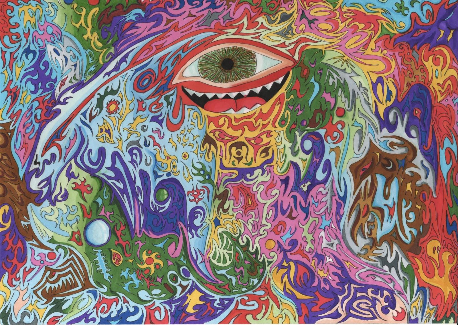 Психоделически открытки