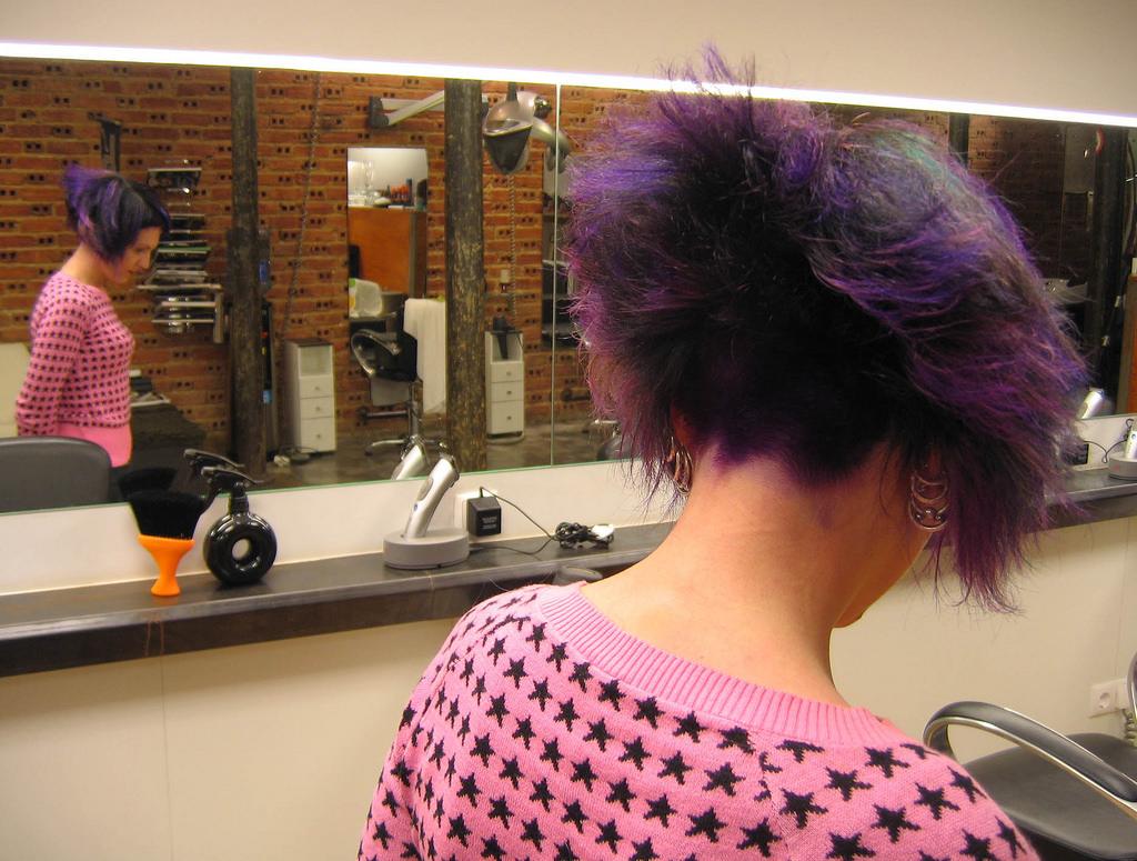 Masaüstü Uzun Saç Mor Menekşe Mavi Siyah Saç Lizbon Afro
