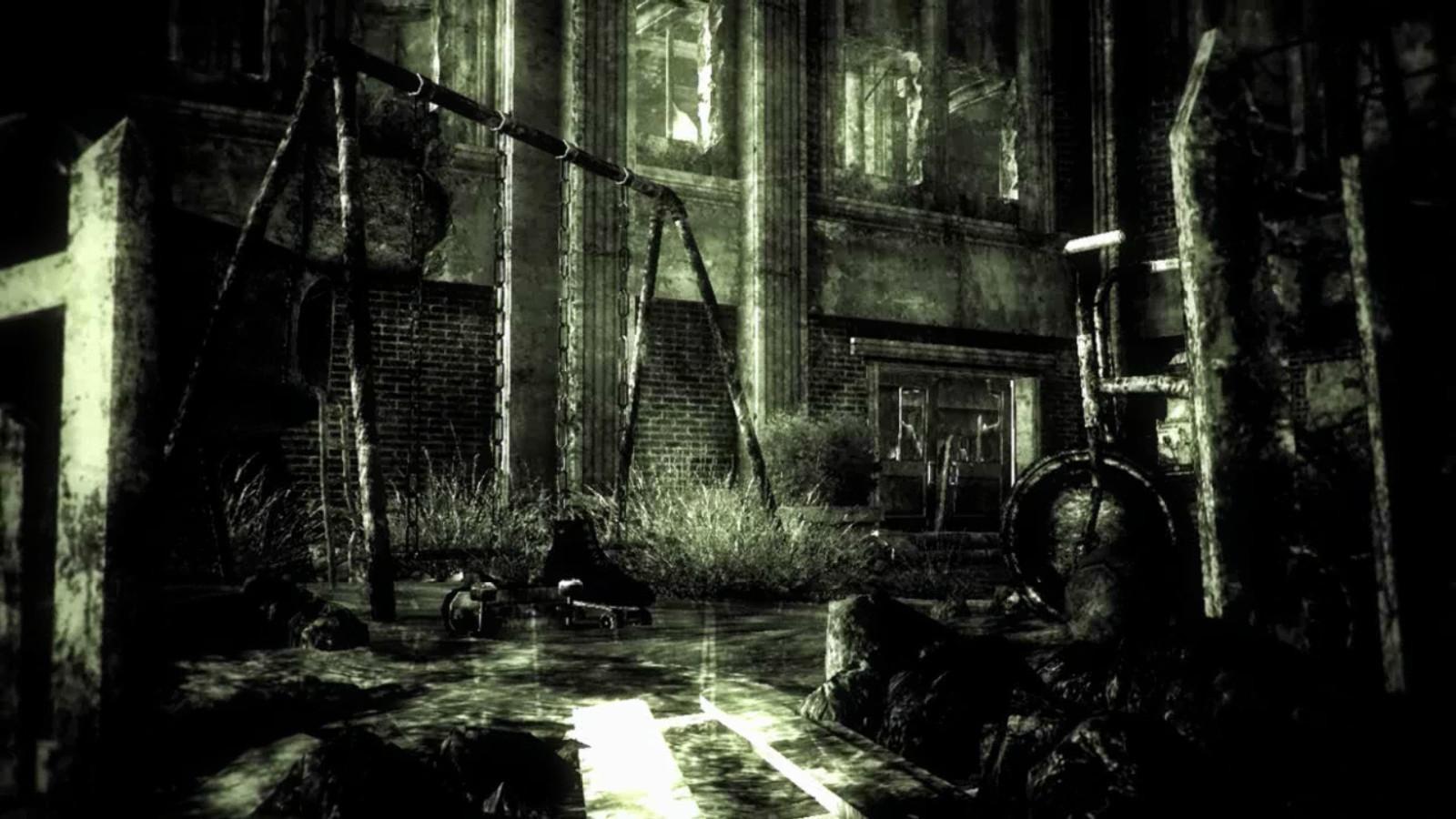 wallpaper : forest, video games, monochrome, jungle, swamp, midnight
