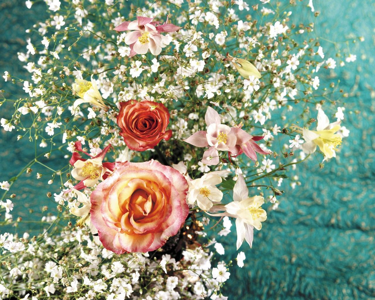 Надписями, картинки море цветов из роз