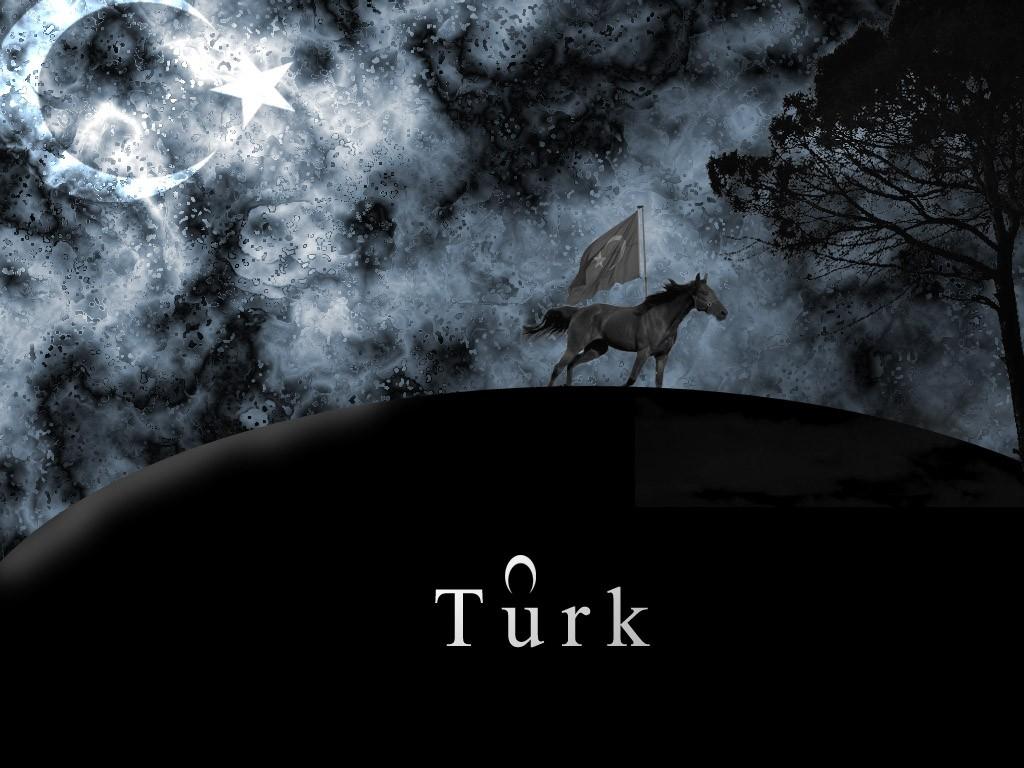 Masaüstü Tek Renkli Bayrak Türkiye Türk Karanlık Ekran