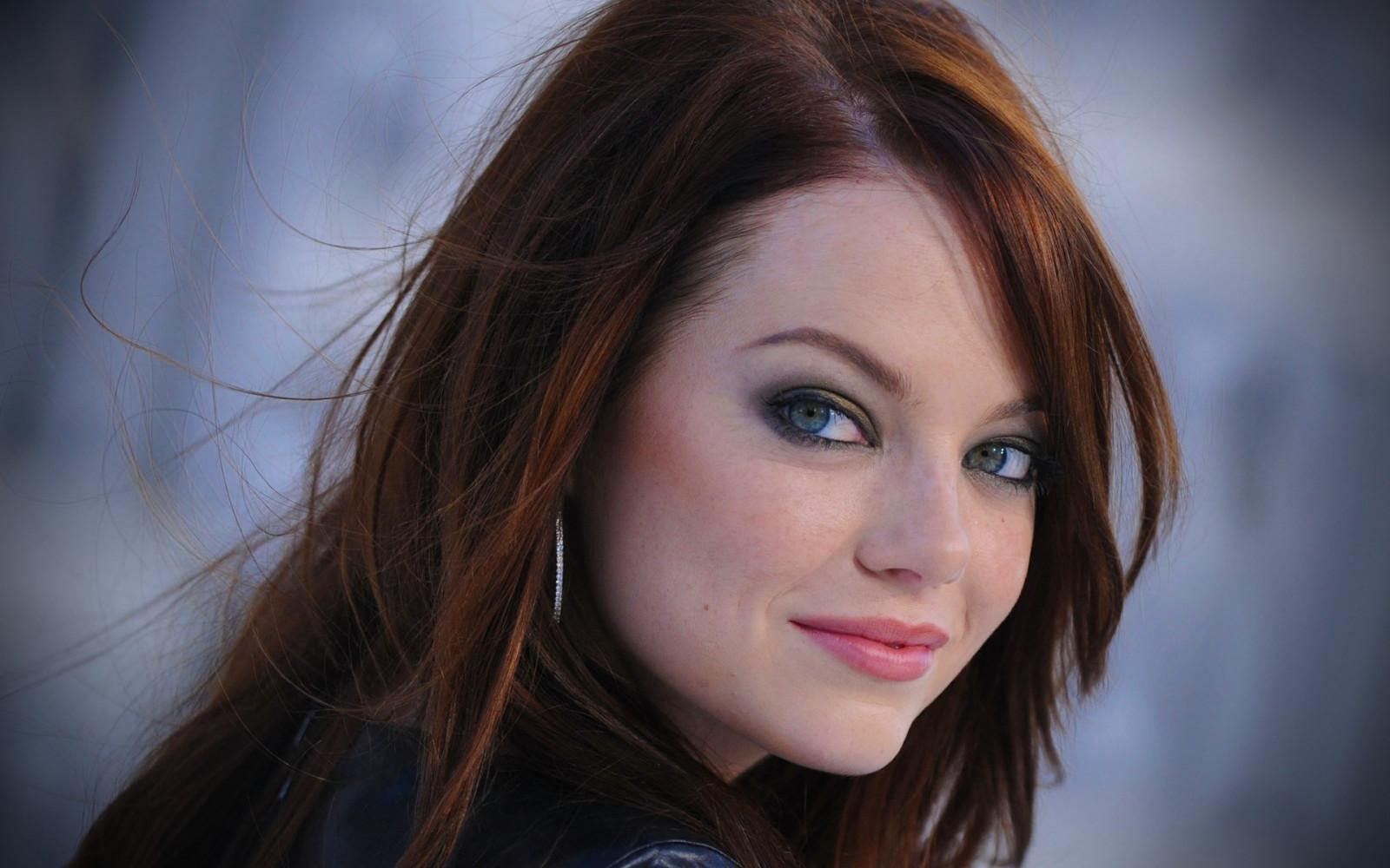 Wallpaper  Face, Women, Redhead, Long Hair, Looking At -6350