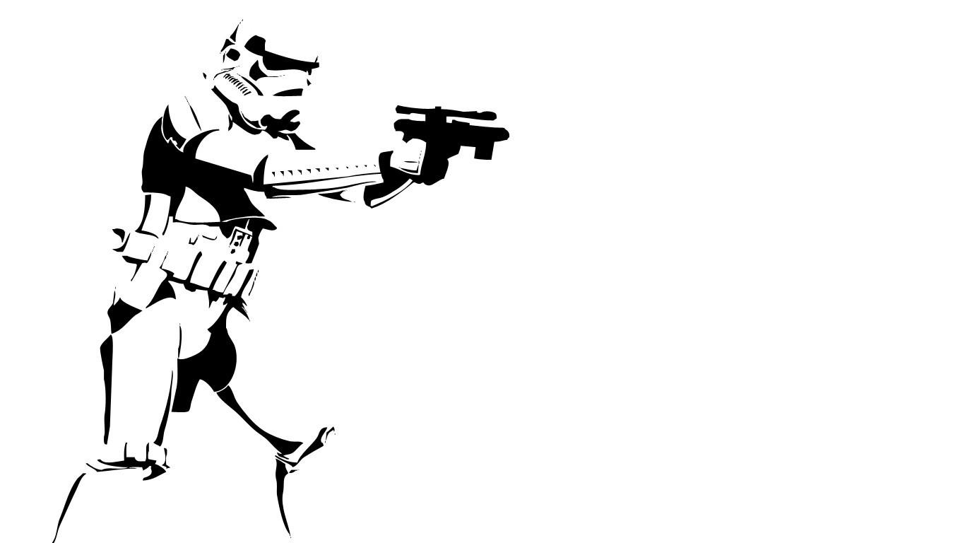 Fond D Ecran Illustration Guerres Des Etoiles Monochrome Arme