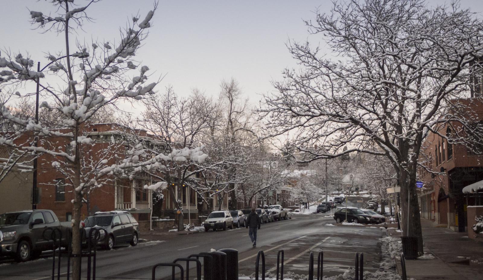 Fond d 39 cran rue paysage urbain neige hiver for Paysage de ville