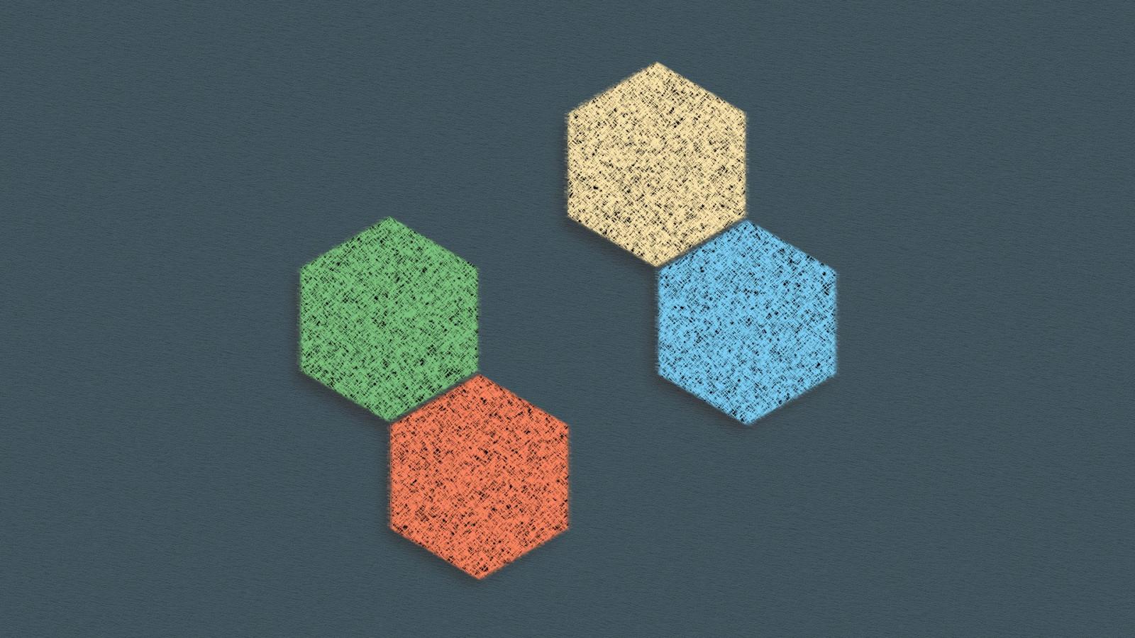 Wallpaper Abstrak Minimalis Simetri Sederhana Segi Enam