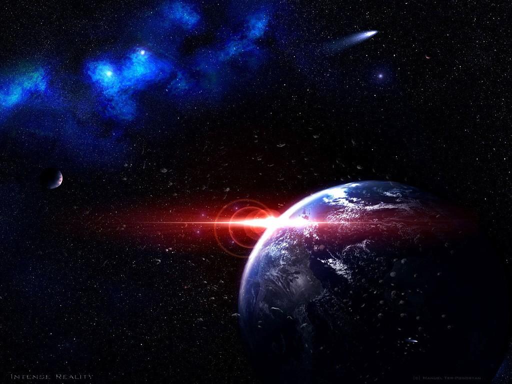 Papel De Parede Gal Xia Planeta Terra Arte Do Espa O Nebulosa  -> Imagens Do Universo Para Papel De Parede