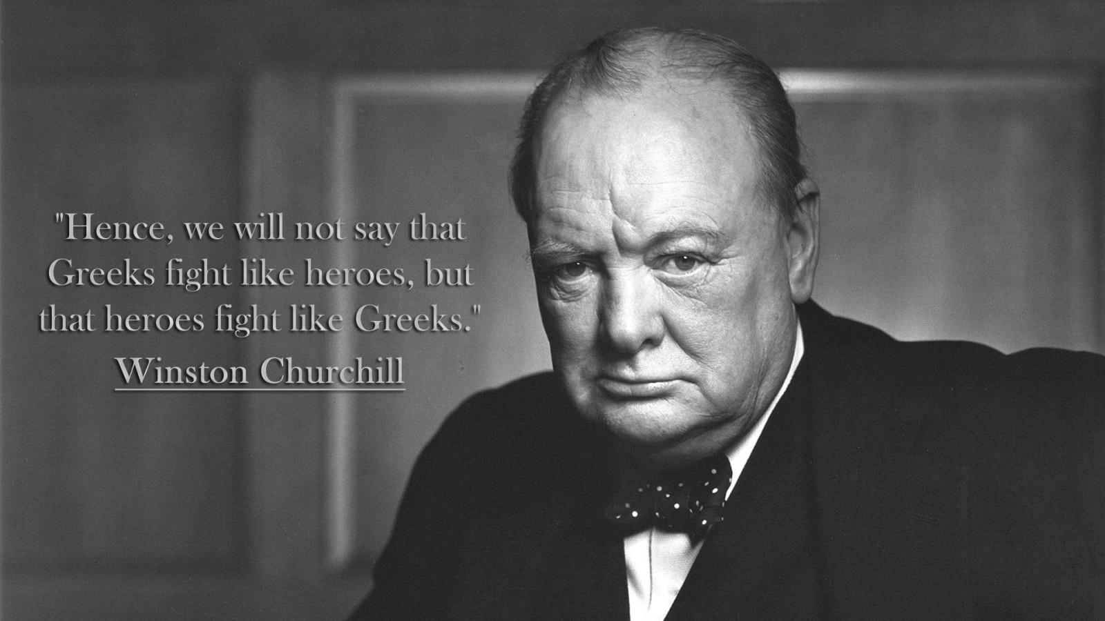 Winston Churchill, quote, Greek, celebrity