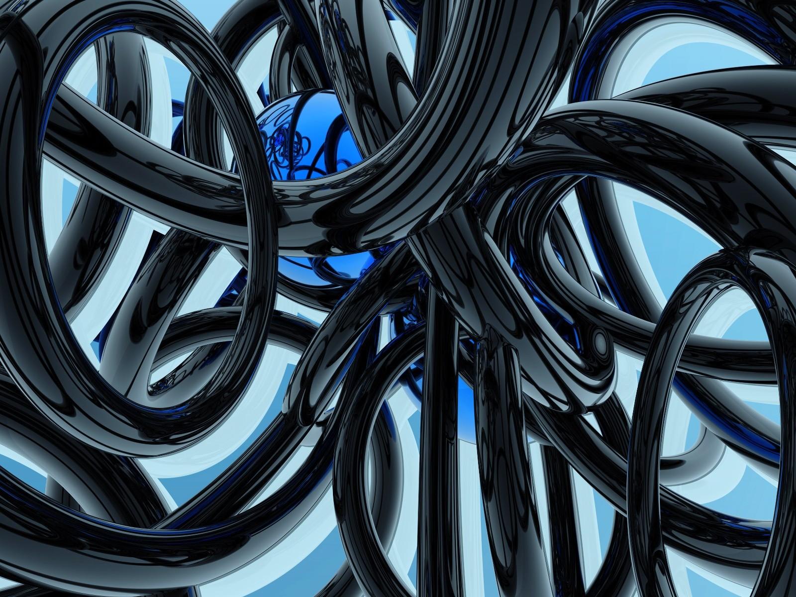 Wallpaper Hitam Satu Warna 3D Kendaraan Biru