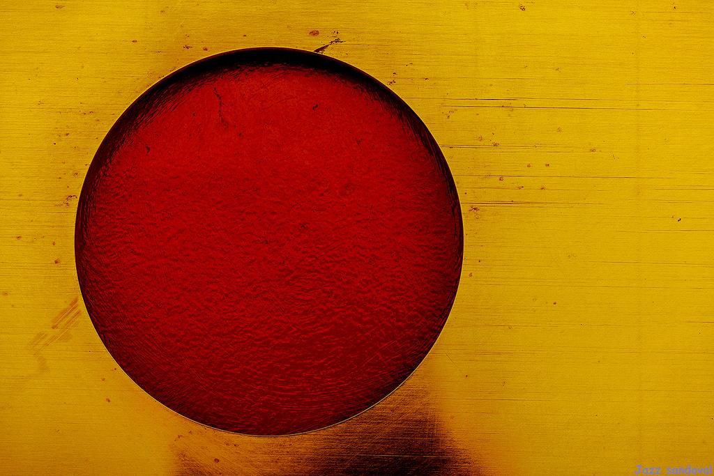 Sfondi Rosso Giallo Cerchio Fotografia Macro Sfondo Del