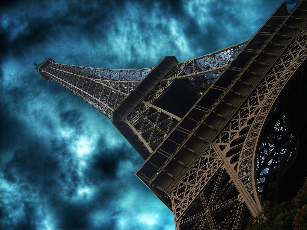 Wallpaper Blue Sky Paris France Tower Photoshop Thankyou