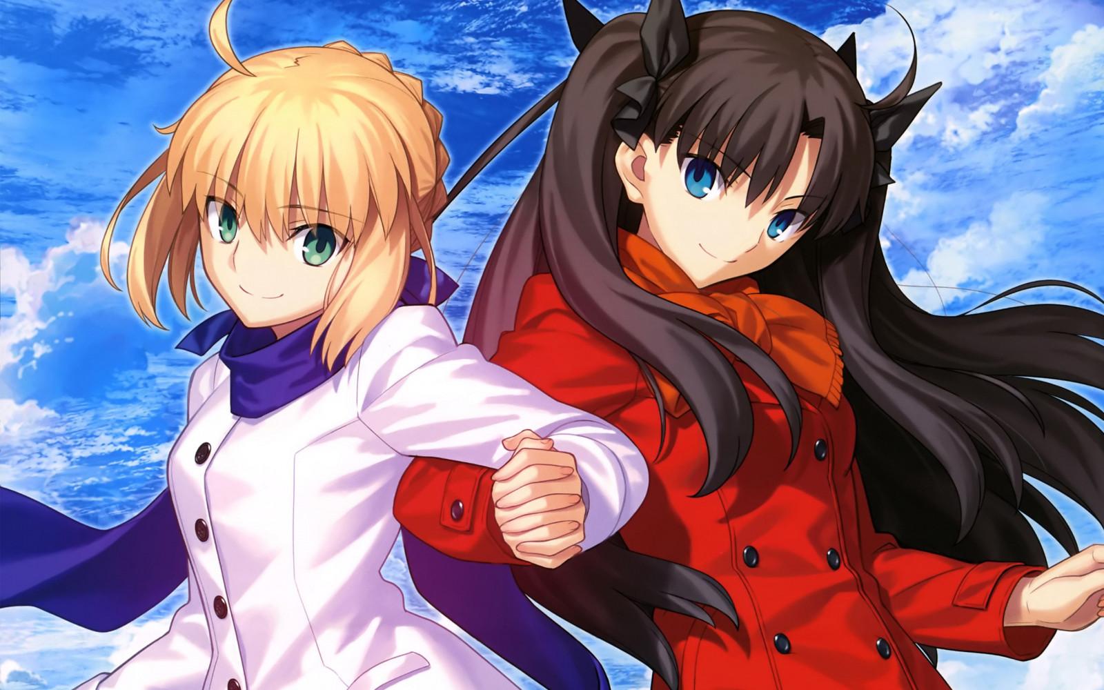 Fate Series, Saber, Tohsaka Rin, Shirou Emiya, Fate Stay