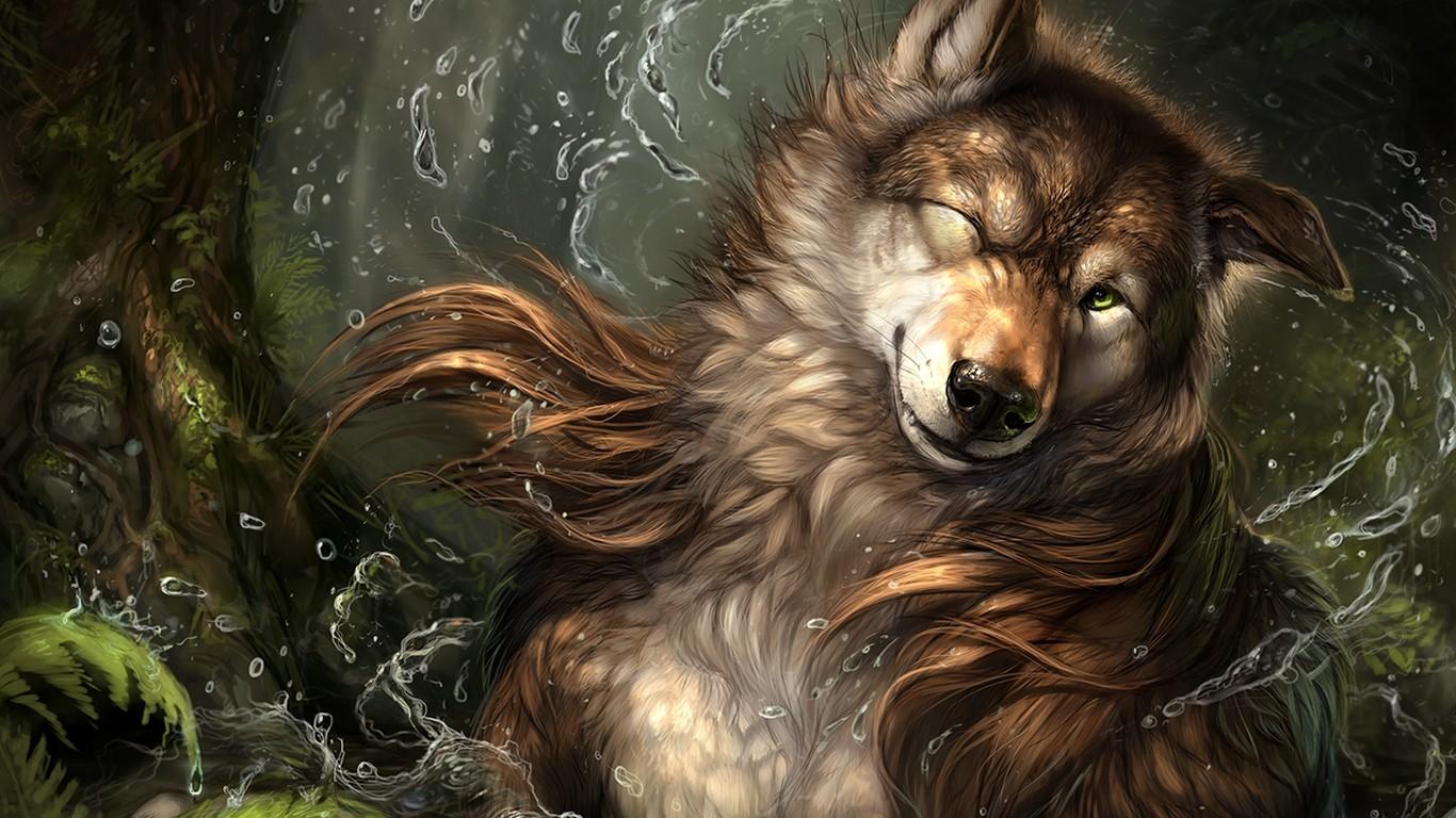 Картинки волков в стиле фэнтези