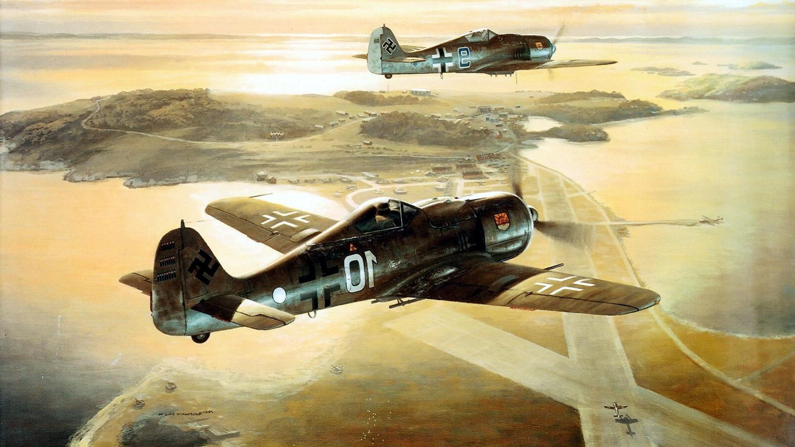 Masaüstü Boyama Uçak Almanya Askeri Askeri Uçak Dünya Savaşı