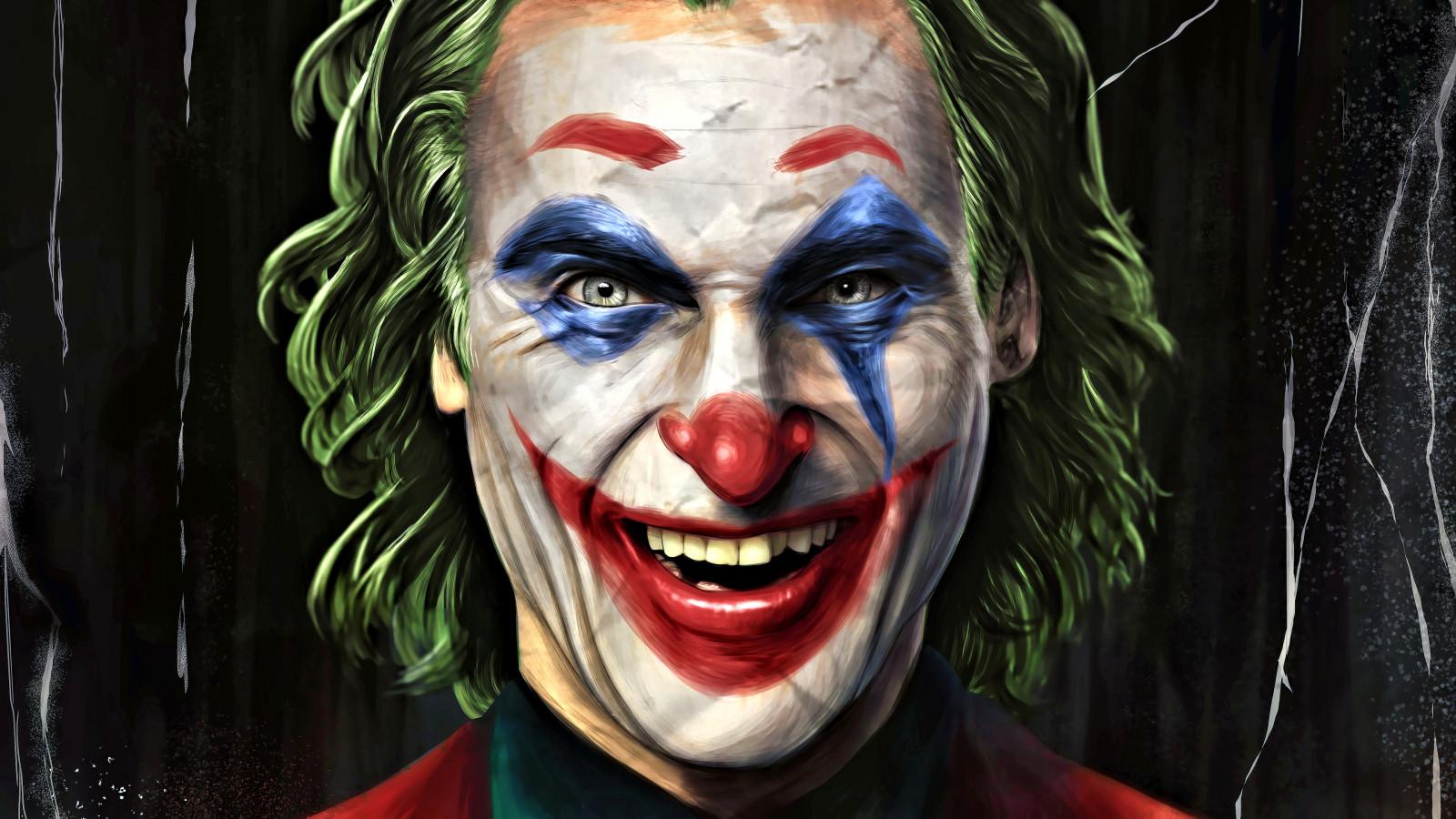 Wallpaper Joker 2019 Movie Gotham City Paint Brushes Dc