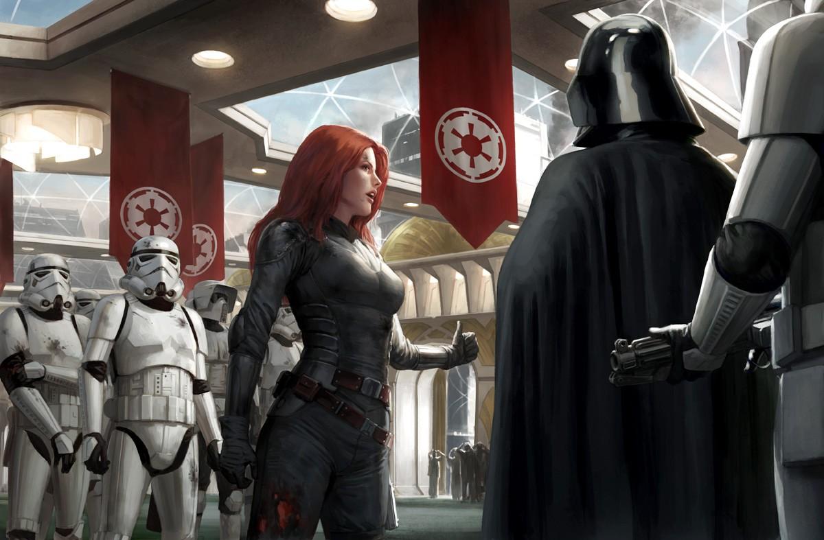 stormtrooper Darth Vader artwork Star Wars Mara Jade 188776