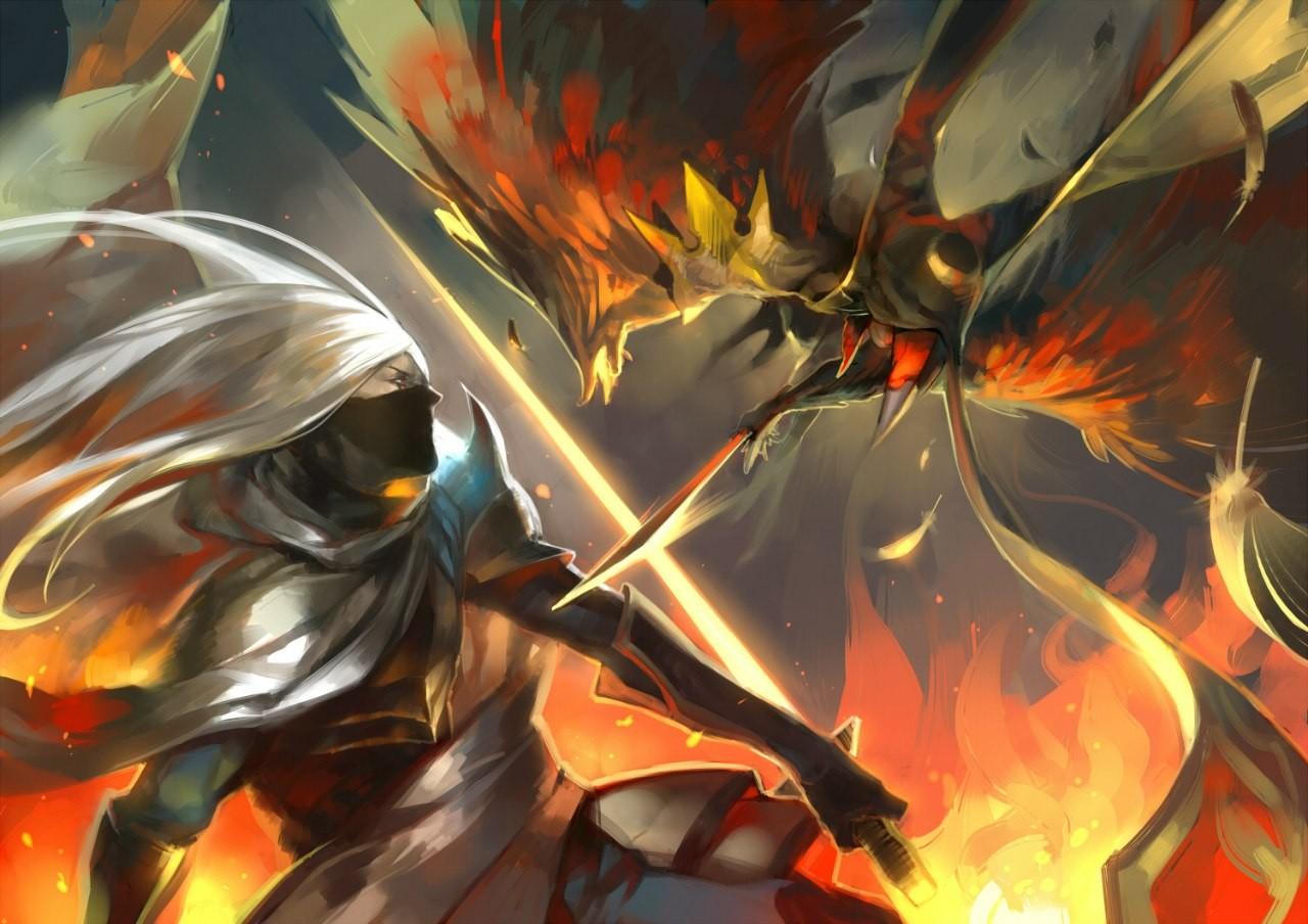 Wallpaper Illustration Fantasy Art Anime Fighting Flower Screenshot Computer Wallpaper Fractal Art 1280x904 Spacer 151325 Hd Wallpapers Wallhere