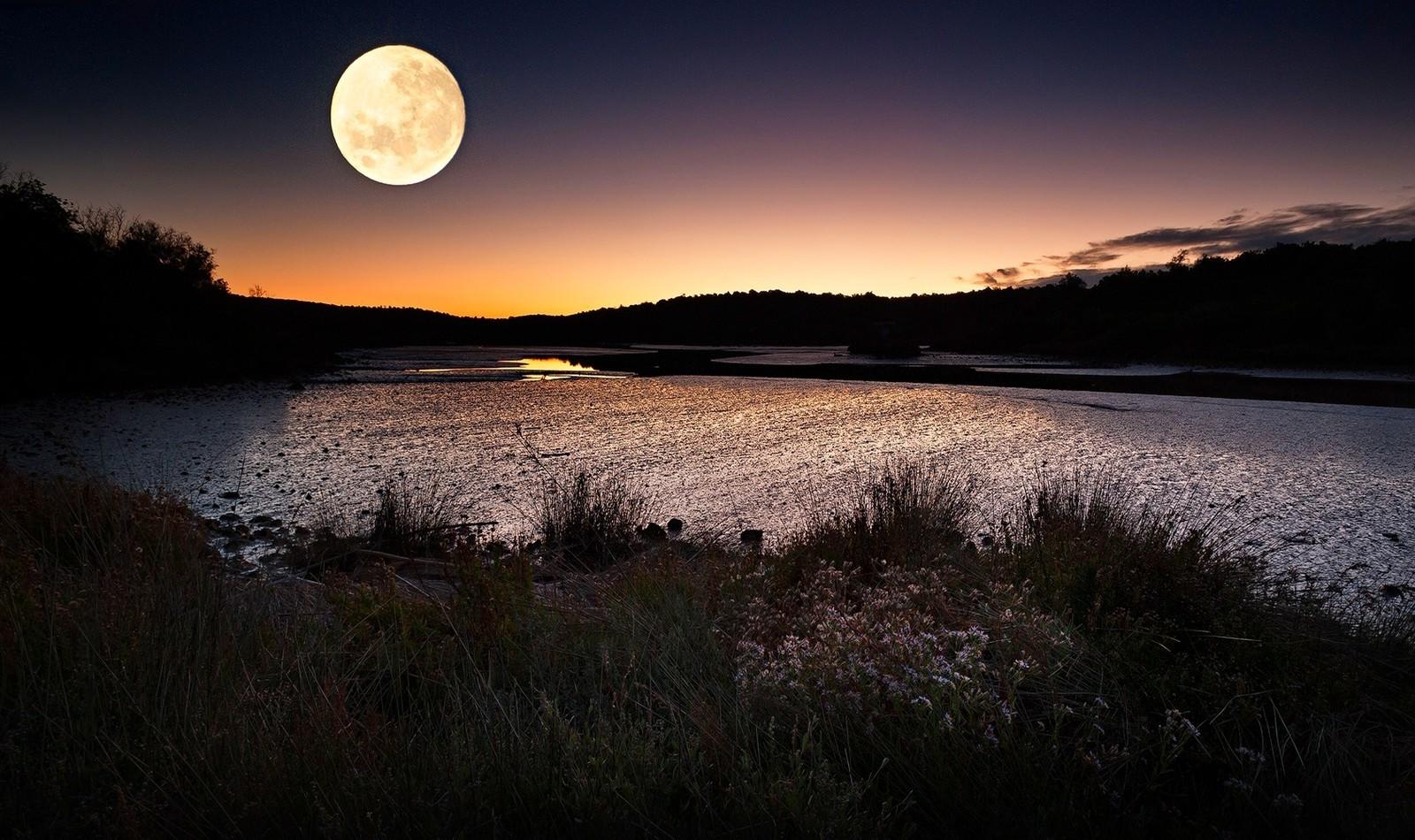 Wallpaper Sunlight Landscape Sunset Sea Night Hill Lake Nature Reflection Sky Sunrise Moon Evening Morning Coast River Sun Moonlight