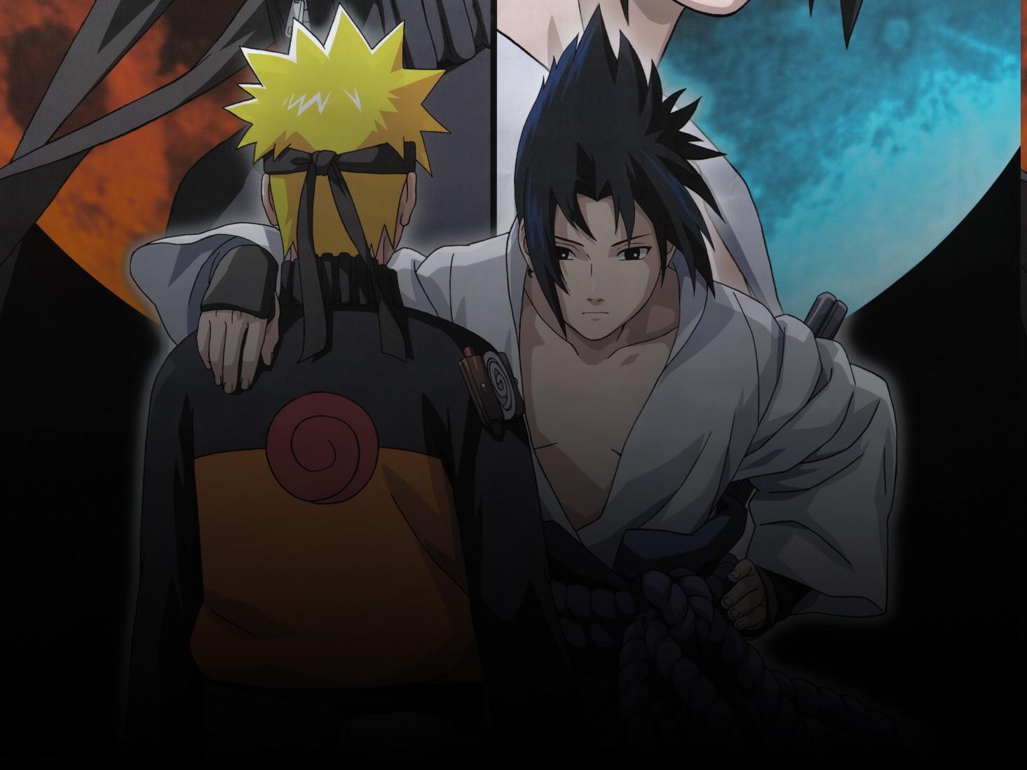1465x1099 px Anime Boys Naruto Shippuuden Uchiha Sasuke Uzumaki Naruto 797385