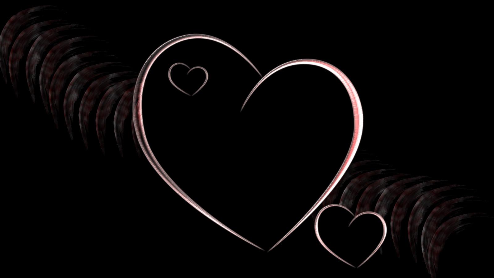 День поздравительные, красивые картинки с сердечками на черном фоне