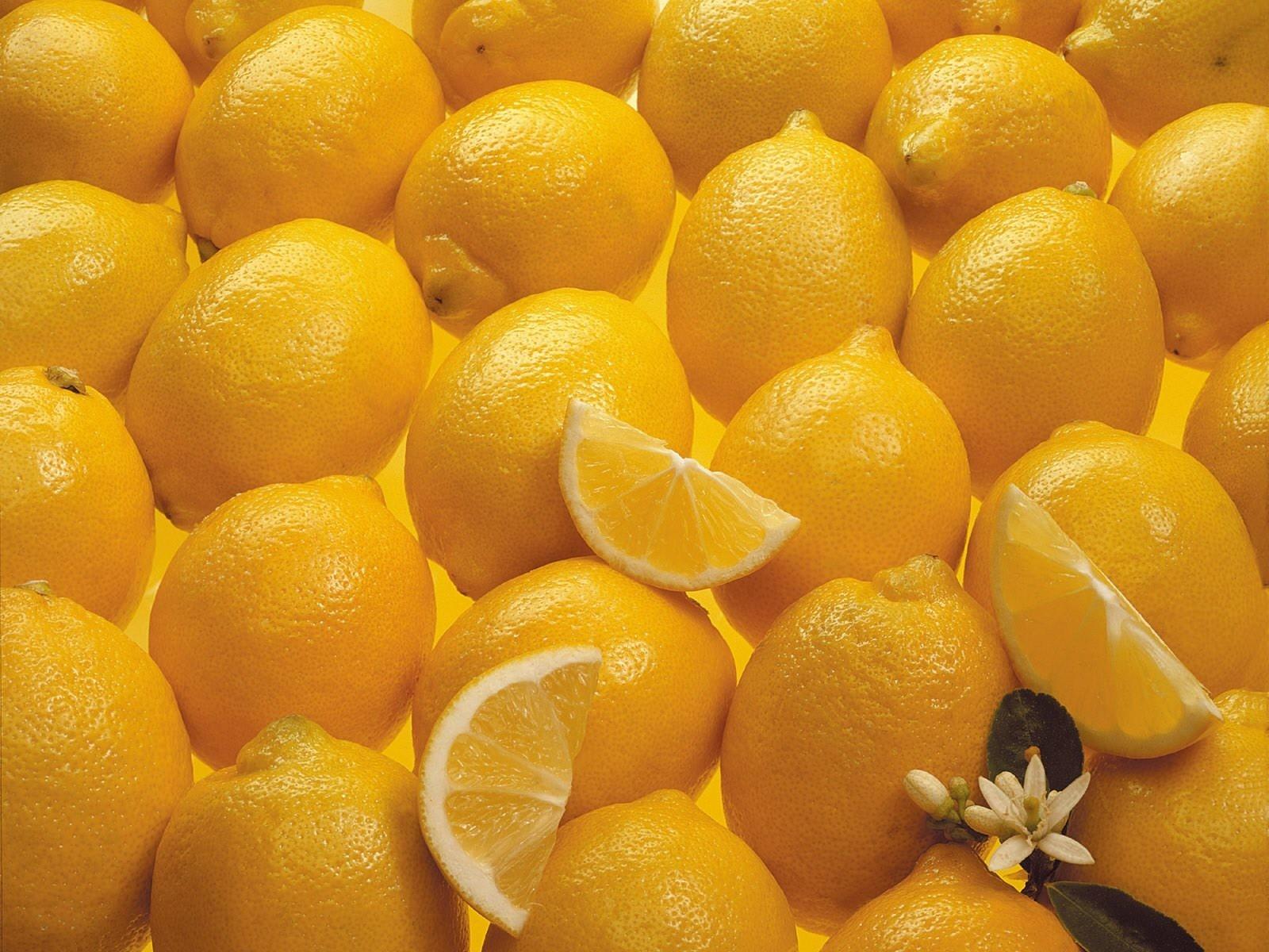 Wallpaper Fruit Yellow Lemons Citrus Background