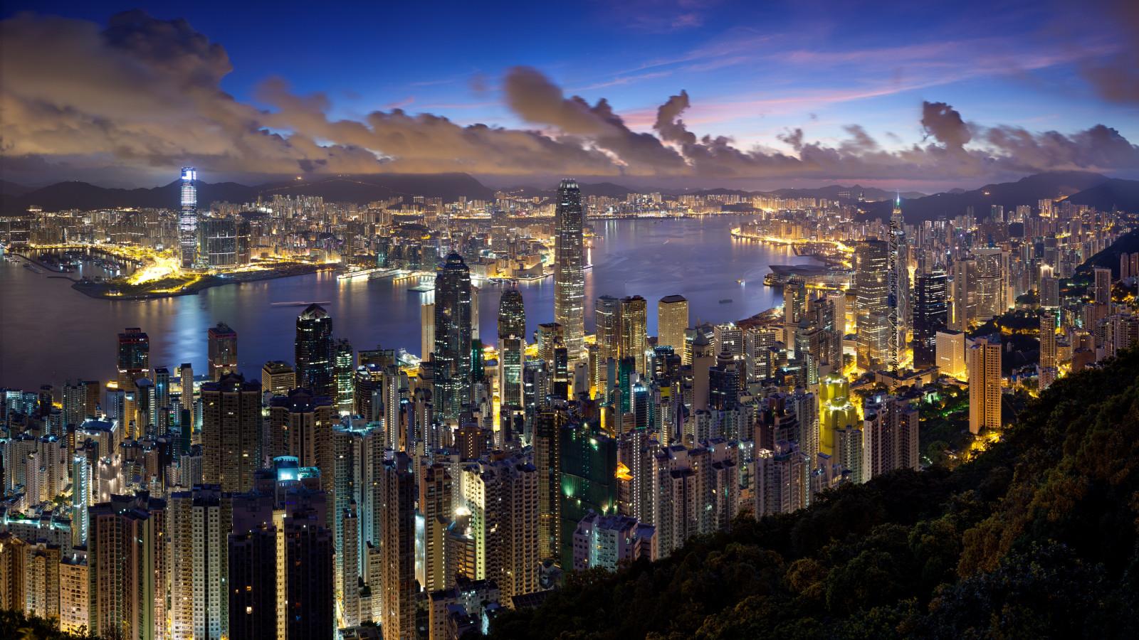 hintergrundbilder stadt hongkong nacht wolken beleuchtung 5328x3000 wallup 1059964. Black Bedroom Furniture Sets. Home Design Ideas