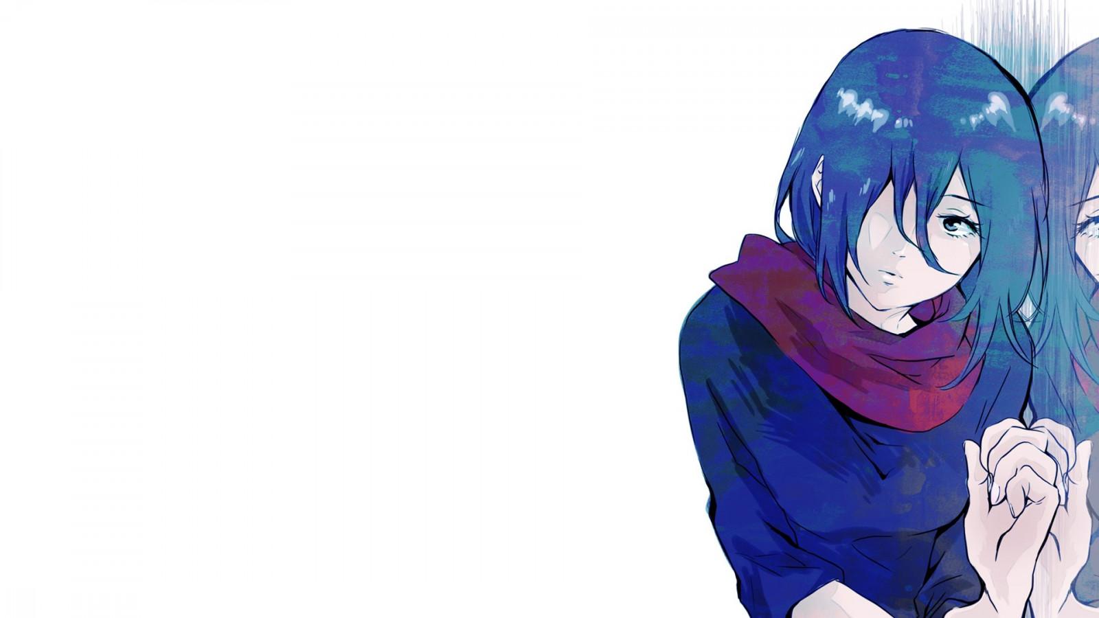 Fond D Ecran Illustration Anime Filles Anime Violet Bleu