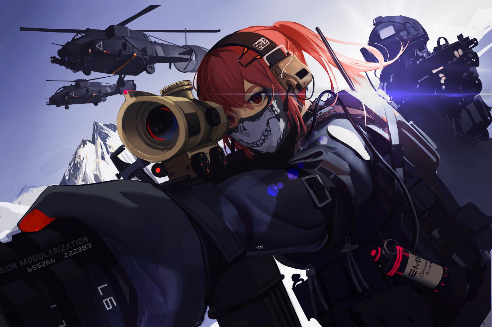 Wallpaper military china weapon soldier anime girls - Anime war wallpaper ...