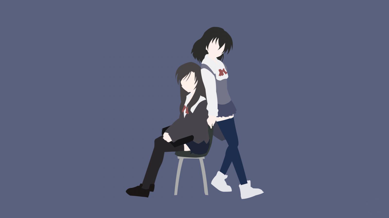 Wallpaper Ilustrasi Gadis Anime Pria Gambar Kartun