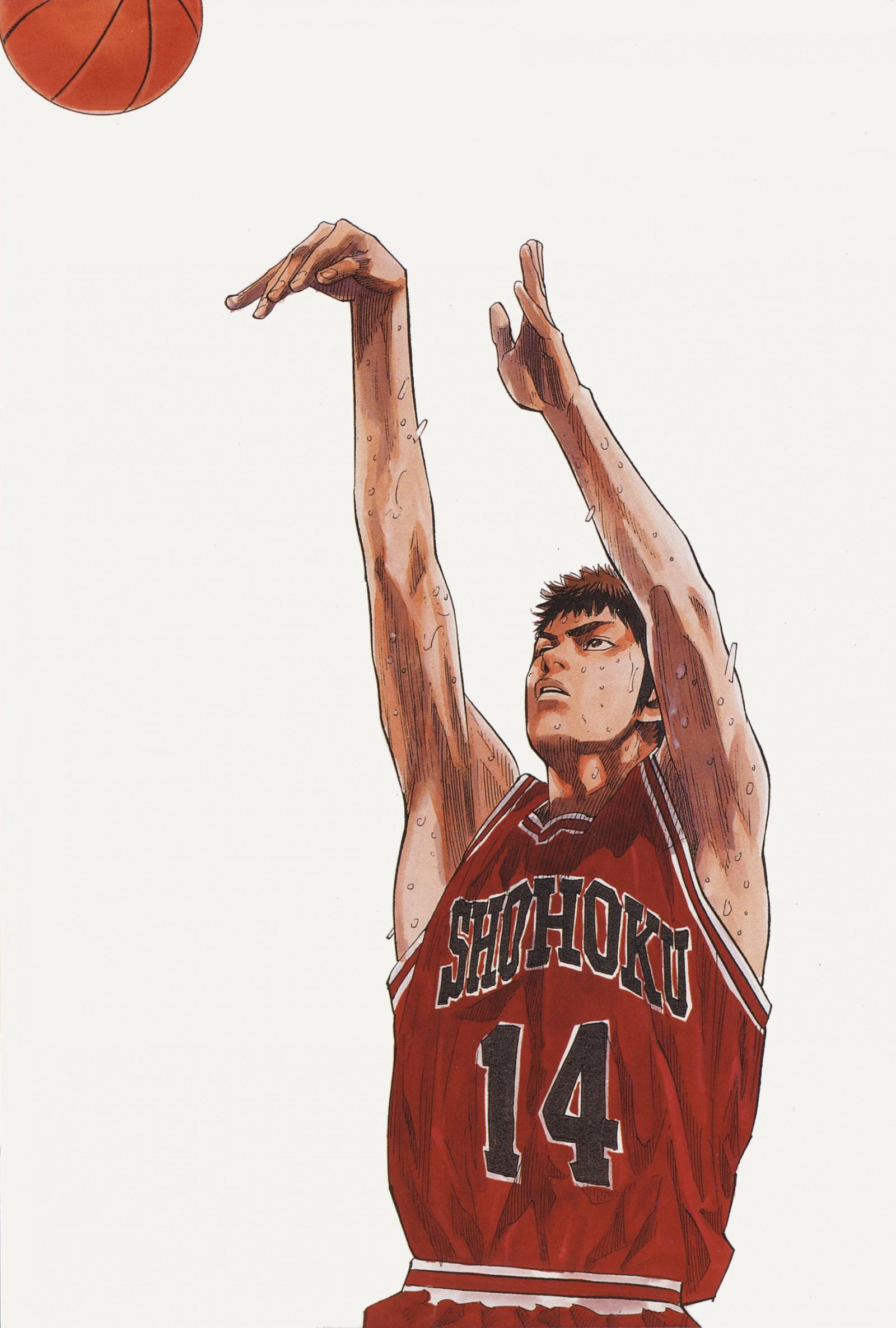 1754x2600 px аниме баскетбол персонаж замочить Парень Hisashi Mitsui серии Хлопать виды спорта