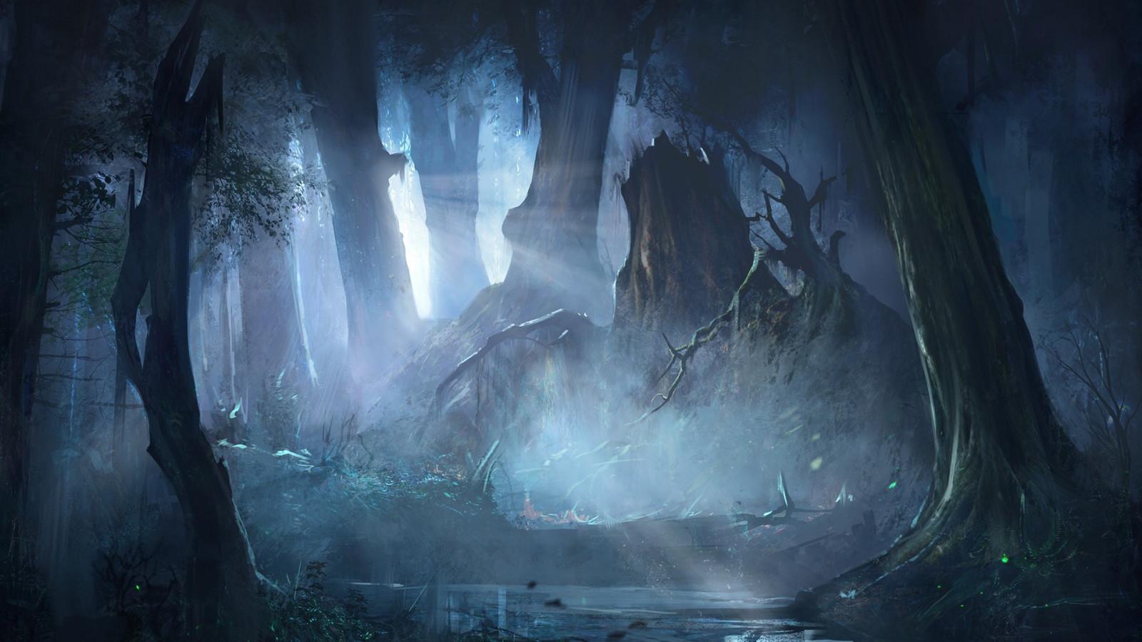 Fond d'écran : forêt, Art fantastique, ouvrages d'art, la glace, la grotte, Formation, bateau ...