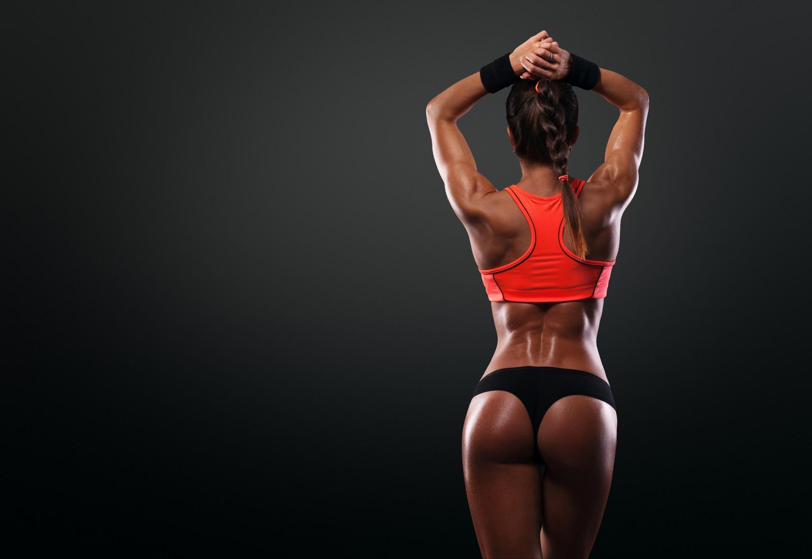 Упругие спортивные фитнес попки