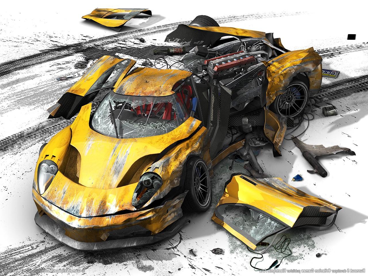 Wallpaper Illustration Toy Sports Car Crash Destruction