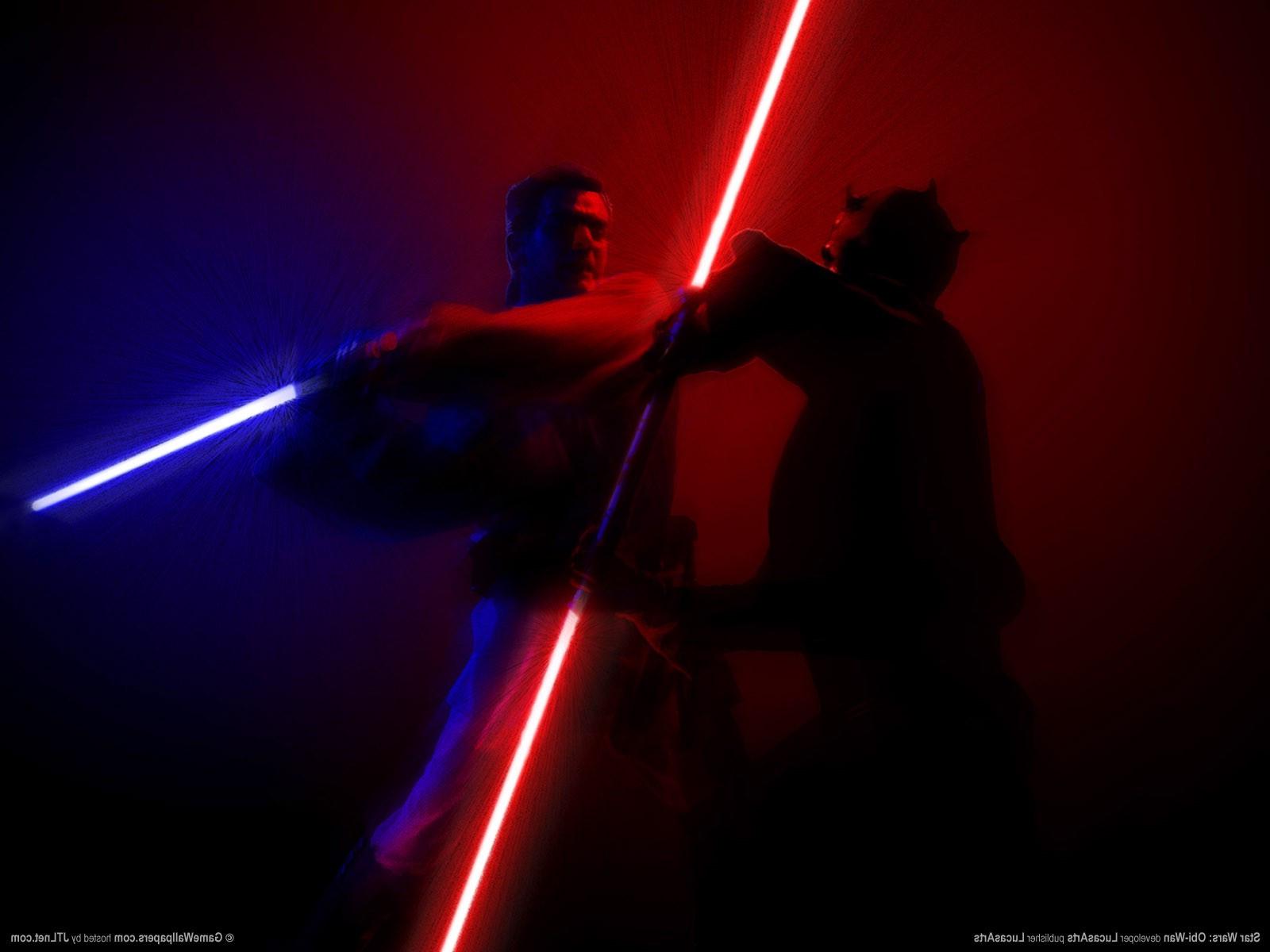Wallpaper Star Wars Night Science Fiction Lightsaber Obi Wan