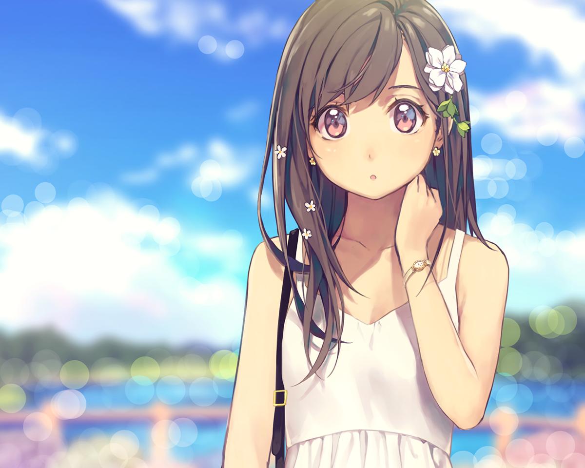 Fondos De Pantalla Pelo Largo Anime Chicas Anime Morena