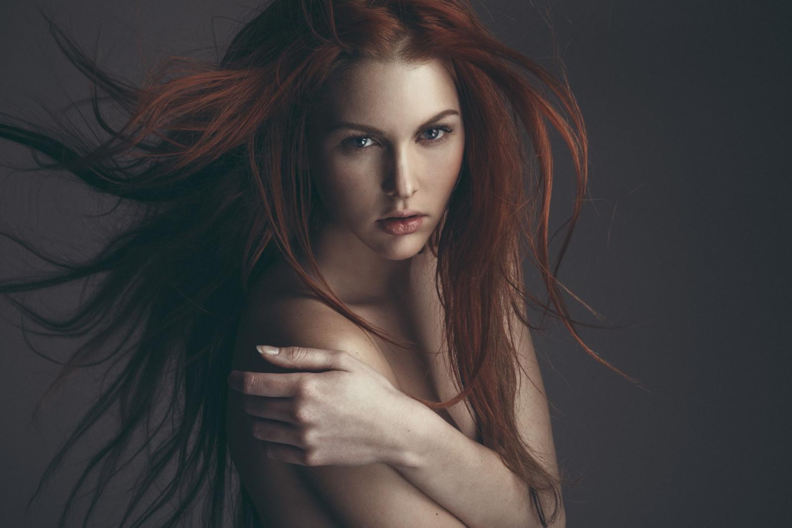 hintergrundbilder : frau, rothaarige, modell-, porträt