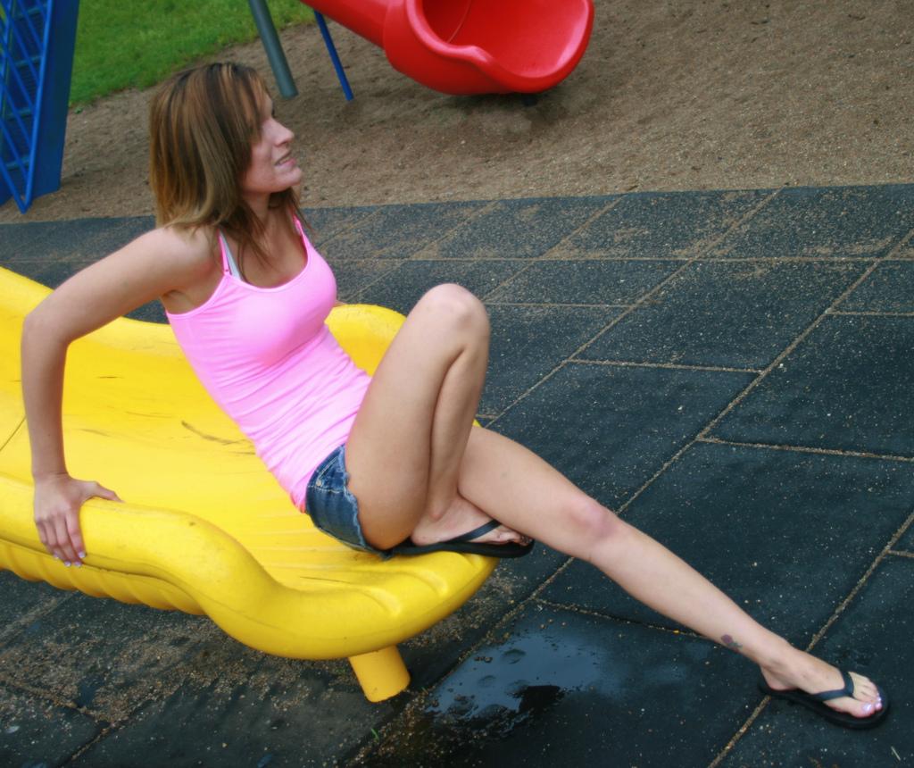 Playground Slide Photoshoot