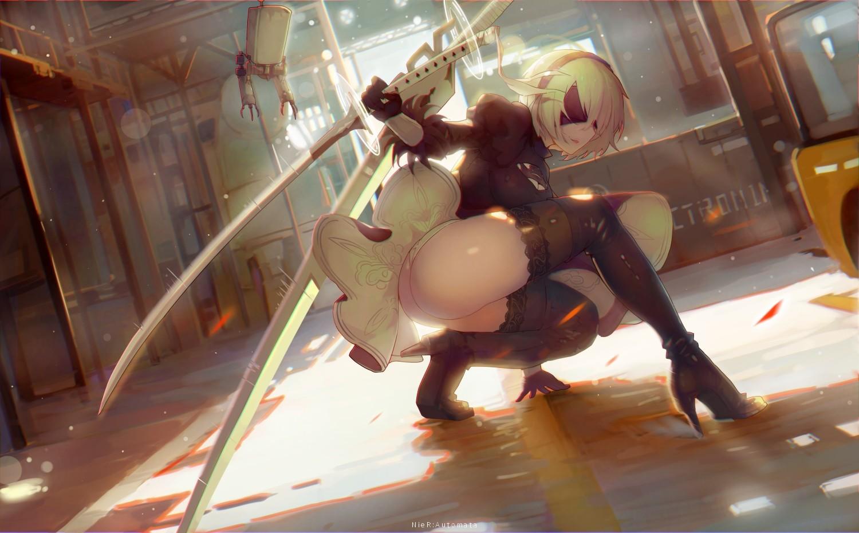 Wallpaper  Anime, Nier Automata, 2B Nier Automata, Nier 1500X930 - Enlightenment -7185