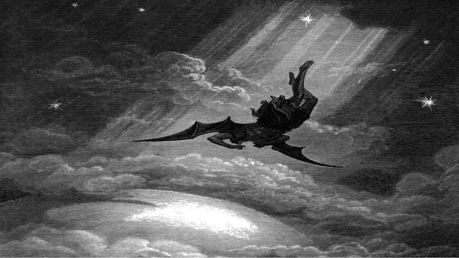 デスクトップ壁紙 ルシファー 堕天使 闇 翼 地球の雰囲気 黒と