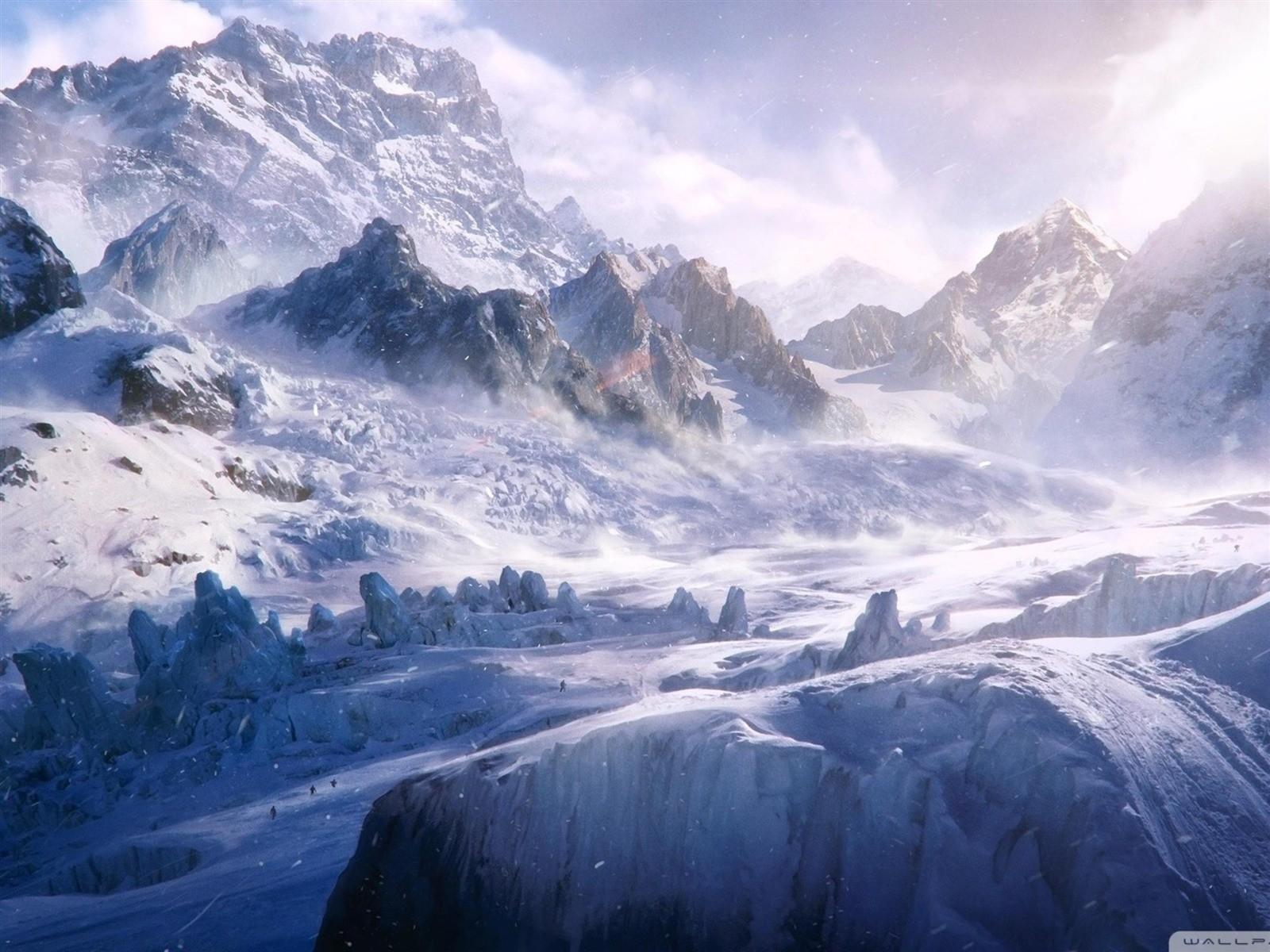 Sfondi Montagne Fantasy Art Natura La Neve Inverno Opera D