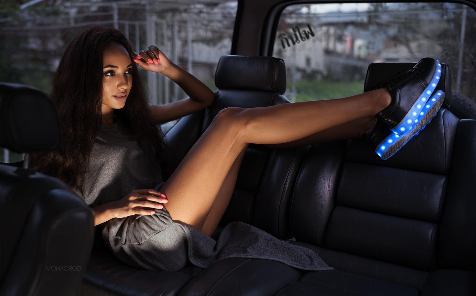 wallpaper women model long hair brunette sitting vehicle dress car interior ivan. Black Bedroom Furniture Sets. Home Design Ideas